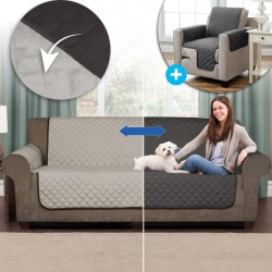 REVERSIBEL SOFA UND SESSEL ABDECKUNG COUCH COVER