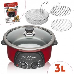 CHEF'O'MATIC 3 L 12 IN 1 MULTIFUNKTIONSKOCHER