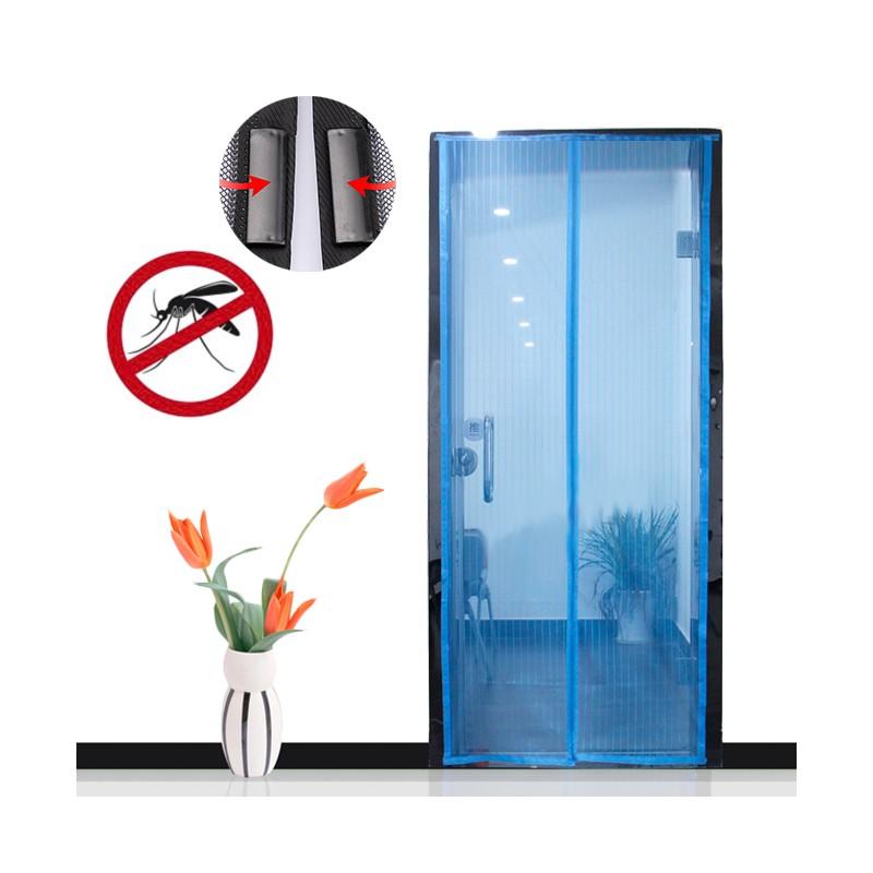 anti insektenvorhang mit magnetverschluss in blau. Black Bedroom Furniture Sets. Home Design Ideas