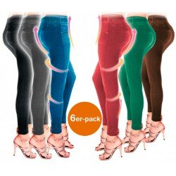 SHAPER SLIM JEGGINGS 6ER PACK